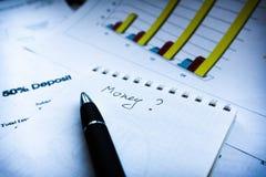 财政企业规划,平衡投资总额 免版税库存照片