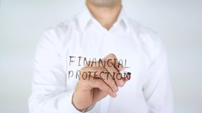 财政保护,在玻璃的人文字 库存图片