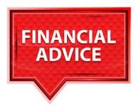 财政忠告有薄雾的淡粉红色横幅按钮 库存例证