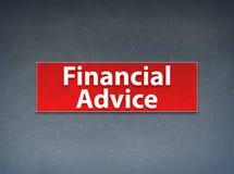 财政忠告红色横幅摘要背景 库存例证