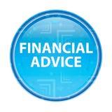 财政忠告花卉蓝色圆的按钮 库存例证