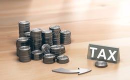 财政情况通知,公司税计划或优化 库存照片