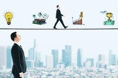 财政成长和领导概念 库存照片