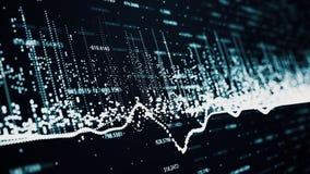 财政显示增长的赢利的图和图 库存例证