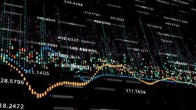 财政显示增长的赢利, 4K的图和图动画 库存例证