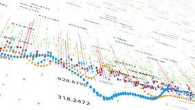财政显示增长的赢利, 4K的图和图动画 向量例证