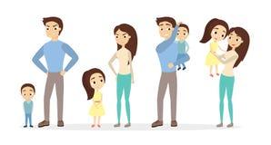 责骂并且称赞父母 向量例证