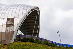 贤哲加兹海得的部分的看法 这个现代大厦是音乐的一个国际家 库存照片