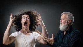 败家子的恼怒的儿子 免版税库存照片