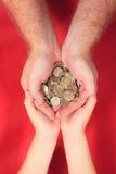 货币保存您 免版税库存图片