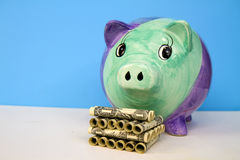 货币保护您 库存照片