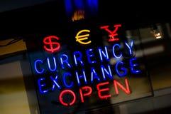 货币兑换 库存照片