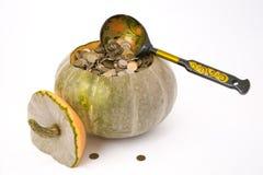 货币南瓜 免版税图库摄影