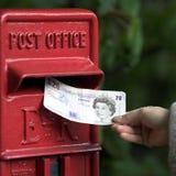 货币发送 库存图片