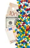 货币和医学 免版税库存照片