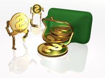 货币和钱包 库存图片