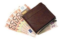 货币和钱包 免版税库存照片
