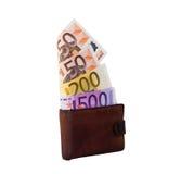 货币和钱包 库存照片