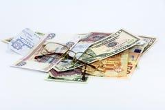货币在世界上 库存图片