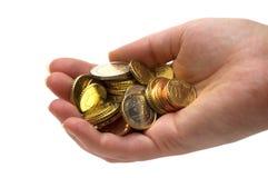 货币在手中 库存图片