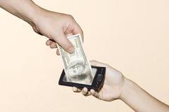 货币在线调用 免版税库存照片