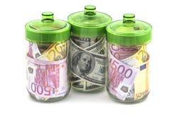 货币在银行中 库存图片
