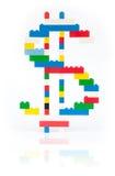 货币塑料符号 免版税库存照片