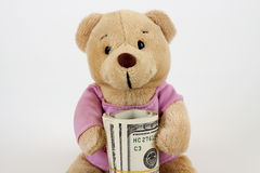 货币女用连杉衬裤 免版税图库摄影