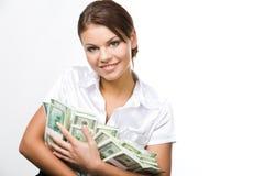货币妇女 库存图片