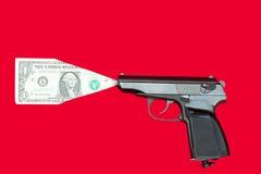 货币射击 库存图片