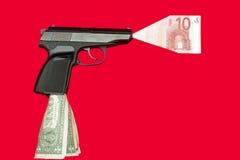 货币射击 免版税库存图片