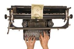 货币打印 库存图片