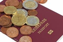 货币护照 免版税库存图片
