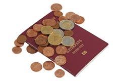 货币护照 库存图片