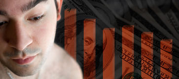 货币担心 免版税库存照片