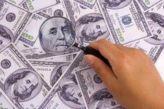 货币搜索 免版税库存图片