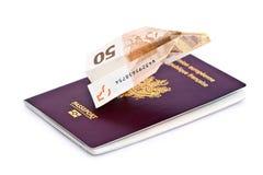货币旅行 库存图片