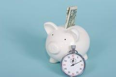 货币时间值 免版税库存照片