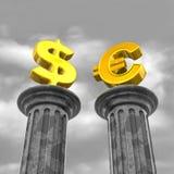 货币柱子 库存照片