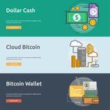 货币概念性横幅设计 库存照片