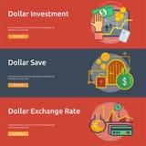 货币概念性横幅设计 图库摄影