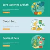 货币概念性横幅设计 免版税图库摄影