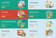 货币概念性横幅设计 免版税库存照片