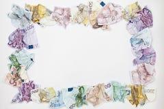 货币欧元 库存图片