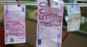 20 50 100 500货币欧洲欧洲 免版税库存照片
