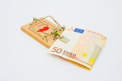 货币欧洲陷井 免版税图库摄影