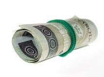 货币波兰滚动 免版税图库摄影