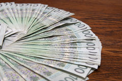 货币波兰 库存图片