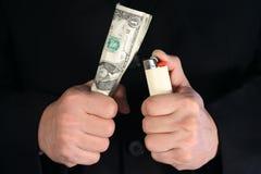 货币浪费 免版税库存照片