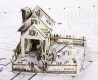 货币的之家 免版税库存图片